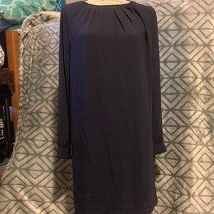 H&M Navy Blue Long Sleeve Dress Size 12